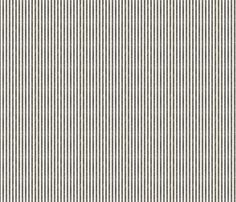 Black and Cream Ticking fabric by jolenebalyeatdesigns on Spoonflower - custom fabric