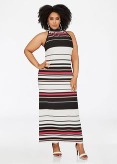 eab2a550b6d Shop Ashley Stewart for this comfy plus size halter maxi dress from EMME   sleeveless