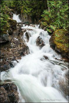 Deception Falls, Mount Baker-Snoqualmie National Forest, Washington - photo by Greg Vaughn, via Flickr
