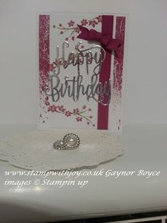 Color theory Birthday card using colorful season stampin up