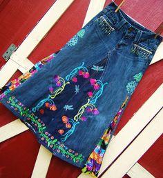 jean skirt ideas