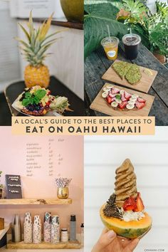 A locals guide to the best places to eat on Oahu Hawaii. The best spots for breakfast lunch dinner and drinks in Honolulu/Waikiki the North Shore Kailua and Kaneohe! Oahu Hawaii, Visit Hawaii, Hawaii Honeymoon, Kauai, Hawaii Life, Hawaii Beach, Hawaii Trips, Hawaii Wedding, Backpacking Europe