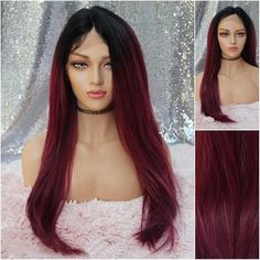 Top quality lace front wigs with durable lace, heat friendly synthetic hair made the wig prefect for styling with any hot tools. We have the widest selection on vivid colors to daily use natural hair colors. Natural Wigs, Natural Hair Styles, Long Hair Styles, Beach Wave Hair, Beach Waves, Latest Hair Trends, Red Wigs, Hair Color Pink, Long Wigs