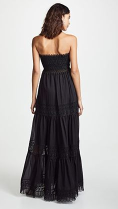 Zoe Dress Charo Ruiz, Strapless Dress Formal, Formal Dresses, Kimono Dress, Lace Trim, Vintage Fashion, Womens Fashion, Retro Vintage, Vestidos