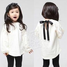 Free Shipping, autumn lantern sleeve lacing paragraph girls clothing baby sweatshirt Girls white T-shirt wt-0663 (CC019NWT0663)