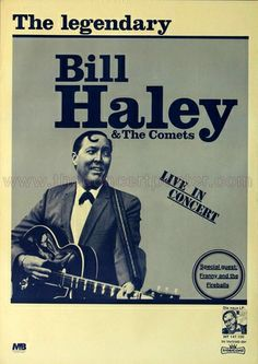 Bill Haley and his Comets - Rock Around The Clock 1968 - Poster Plakat Konzertposter Barber Shop Vintage, Vintage Bar, Rock Posters, Music Posters, Bill Haley, Rock Around The Clock, Vintage Concert Posters, Concert Flyer, Honky Tonk