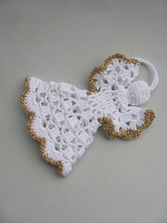 Crochet Angel Pattern PDF DIY Craft Christmas Angel tutorial Christmas gift Baptism gift Religious gift Home decoration Tree ornament - Her Crochet Crochet Christmas Ornaments, Angel Ornaments, Christmas Angels, Christmas Tree Decorations, Christmas Crafts, Christmas Poinsettia, Crochet Snowflakes, Christmas Bells, Crochet Angel Pattern