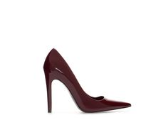 ZARA - WOMAN - HIGH HEEL SYNTHETIC PATENT LEATHER COURT SHOE WITH POINTED TOE