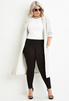 Plus Size Classic High-Waisted Leggings | Forever 21 PLUS - 2000165469