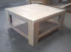 Salon tafel steigerhout