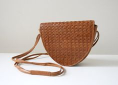 SALE Woven Leather Satchel on Etsy, $30.00