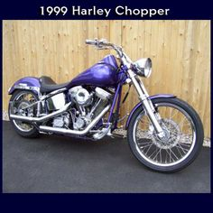1999 motorcycle purple custom 3500 miles color purple