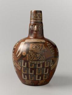 Face Neck Jar, Huari culture, Peru, 650-1000 C.E. Brooklyn Museum: Arts of the Americas