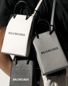 Farfetch on Spotlight On / Brand new balenciaga Shopping bags. Mini, of course. Balenciaga Shopping Bag, New Balenciaga, Balenciaga Handbags, Gucci Handbags, Designer Handbags, Look Fashion, Fashion Bags, Chloe Handbags, Popular Handbags