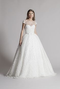 Flower Wedding Gown by andree salon