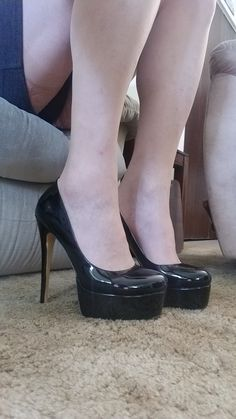 Gradually. black high heels and stockings fuck think