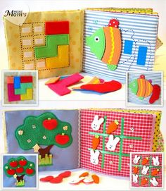 Childrens Quiet Book Busy Book Eco friendly by MiniMoms on Etsy