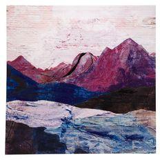 Design House Canvas Handpainted Mountain Range 80cm x 80cm