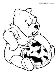 halloween coloring page 45 coloring page for kids and adults from entertainment coloring pages holidays coloring pages winnie the pooh - Winnie The Pooh Halloween Coloring Pages