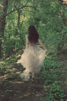 girl running through forest - Google Search