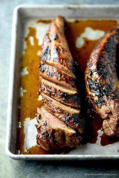Honey Soy Glazed Pork Tenderloin by shewearsmanyhats #Pork_Tenderloin #Honey #Soy #Easy #Healthy