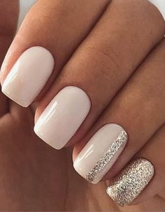 66 Natural Summer Nails Design for Short Square Nails - # w ., 66 Natural Summer Nails Design for short square nails - # white . - 66 Natural Summer Nails Design for short . Stylish Nails, Trendy Nails, Cute Nails, My Nails, Casual Nails, Smart Nails, Elegant Nails, Classy Nails, Square Nail Designs
