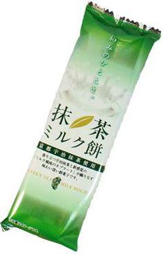 Green Tea Latte Mochi $1.50 http://thingsfromjapan.net/green-tea-latte-mochi/ #green tea mochi #mochi #traditional Japanese snack