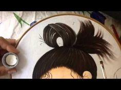 Pintura en tela niña durazno # 2 con Cony - YouTube