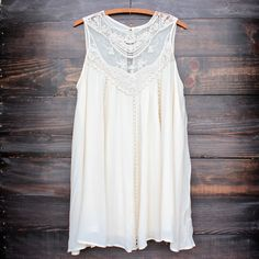 natural boho crochet lace dress from shophearts. Saved to tops. The Dress, Dress Skirt, Sandro, Bohemian Lace Dress, Cute Dresses, Cute Outfits, Crochet Lace Dress, Dress Lace, Vintage Style Dresses