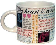 Shakespeare Love Mug at BBC Shop