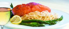 Bellisio's seasonal line caught wild salmon Italian Village, Italian Recipes, Salmon, Spaghetti, Restaurant, Ethnic Recipes, Food, Diner Restaurant, Essen
