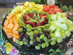 watermelon art for wedding | Serves 26-32 includes pineapple, honeydew, cantaloupe, watermelon, red ...