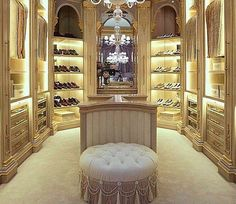 A walk-in closet by Jumbo Collection