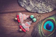 Unique Gypsy Bell Earrings with Vintage Tin by MusingTreeStudios