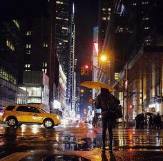 NIGHT MOVES | Rainy evening at 42nd Street. Photo: @NYC