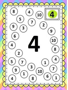 Preschool Number Worksheets, Fun Worksheets For Kids, Shapes Worksheet Kindergarten, Numbers Preschool, Preschool Learning Activities, Preschool Lessons, Preschool Math, Math For Kids, Math Lessons