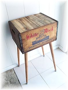Shipping Crate Table 1930s 1940s WHITE ROCK by MrsRekamepip, $120.00