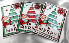 Well Christmas is happening and I better get some Xmas Cards happening. My Sister needed some first so these are a couple of the ones I ma...