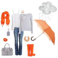 Love the pop of color, and looks perfect for rainy days when the weather isn't terribly cold.