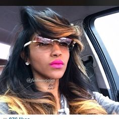"""I caught my sexy bish @funhousejaijai wit my sexy hair I did "" Photo taken by @bkluvsme on Instagram, pinned via the InstaPin iOS App! http://www.instapinapp.com (01/28/2015)"