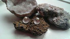 Aros plata 925 con perlas de agua dulce.