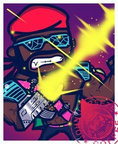 New Major Lazer fan art    Meejah Leezah!    #diplo #majorlazer #80s #cult #fanart  #johnjfreeze