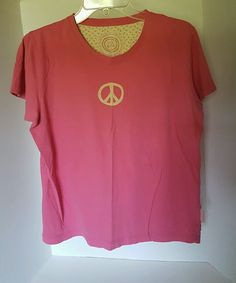 Womens Life Is Good Peace Pink T-shirt 100% cotton Medium | Clothing, Shoes & Accessories, Women's Clothing, T-Shirts | eBay!