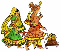 Hindu Wedding Card Clipart In Colour Beautiful Wedding Clipart Wedding Symbols, Hindu Wedding Cards, Hindu Wedding Ceremony, Wedding Logos, Wedding Drawing, Wedding Painting, Madhubani Art, Madhubani Painting, Wedding Crafts