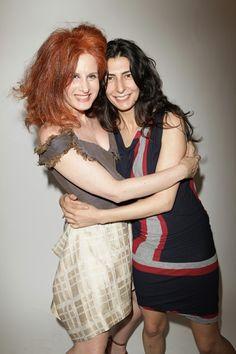 Rossana Diana - the RedHead with Yasmine Eslami.