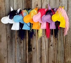 Stick Horse in My Little Pony Colors by mylue on Etsy, $10.00
