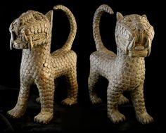 benin bronze statues   Pair of Benin Style Bronze Sculptures of Leopards - CK.0033 For Sale ...