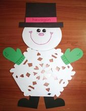 Snowflake Activities, Snowflake Crafts, Snowman Crafts, Snowman Activities, January … - Crafts for Kids Daycare Crafts, Classroom Crafts, Toddler Crafts, Classroom Freebies, Christmas Crafts For Kids, Christmas Art, Holiday Crafts, Fall Crafts, January Crafts