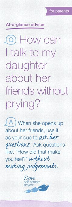 Your daughter will have many influences on her road to adulthood—some better than others. What happens when she starts hanging out with a group you don't approve of? Before judging her friends, you can do your part to learn more about them and why your daughter is interested in their friendship. Help build positive self-esteem for you and a girl in your life by creating your own self-esteem board titled, #SelfEsteemProject.