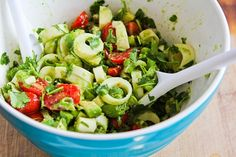 Recipe for Heart of Palm Salad with Tomato, Avocado, and Lime (with or without Cilantro) | Kalyn's Kitchen®